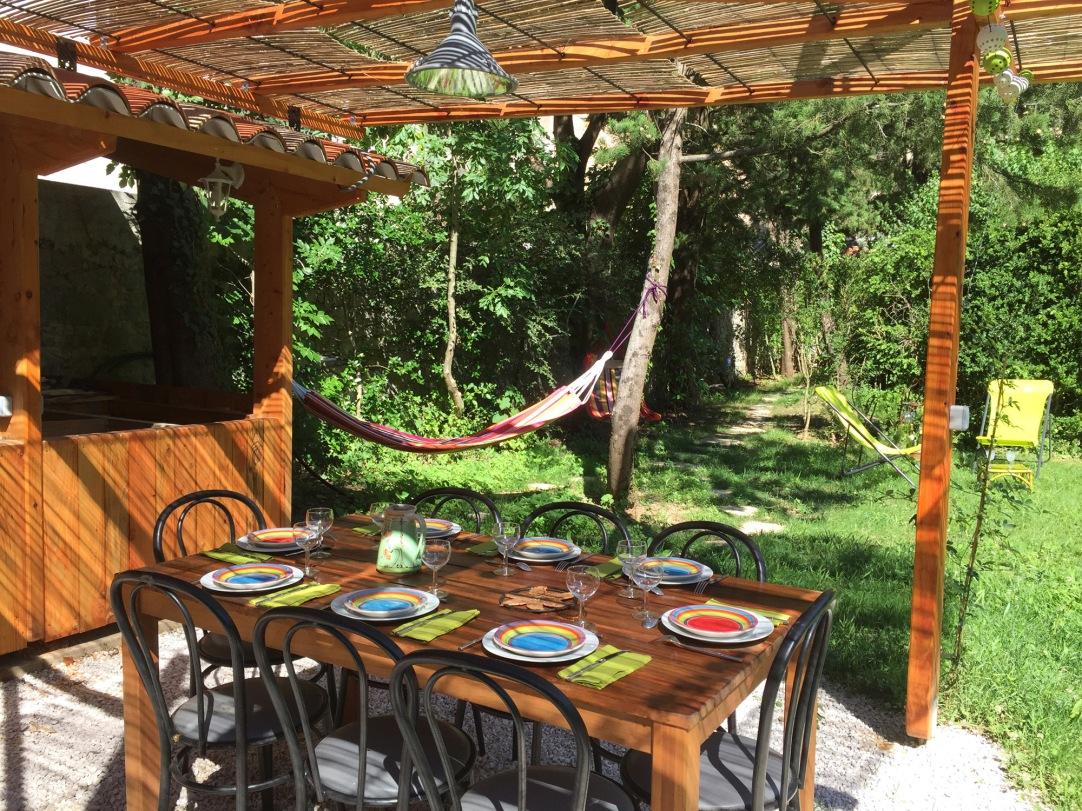 Cuisine d'été aux Asphodèles - Summer kitchen at the Asphodeles lodge